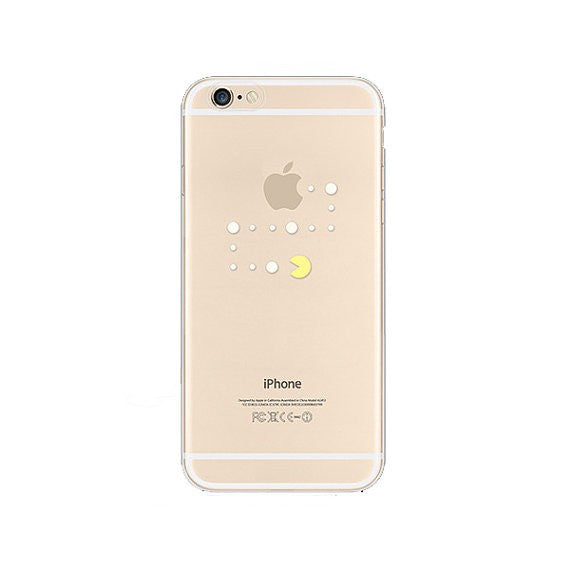 Pac Man iPhone 6s 6 Plus SE 5s 5 Soft Clear Case - Mavasoap