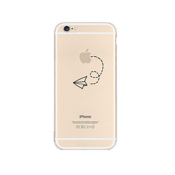 Paperplane iPhone 6s 6 Plus SE 5s 5 Soft Clear Case - Mavasoap