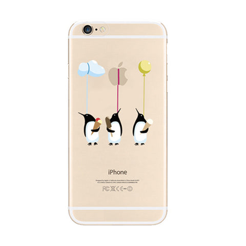 Penguin Ice-cream iPhone 6s 6 Soft Clear Case - Mavasoap