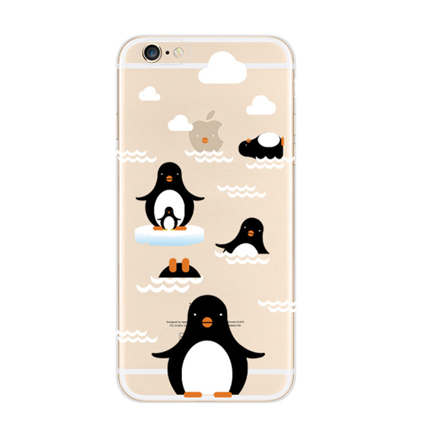Penguin Ice iPhone 6s 6 Soft Clear Case - Mavasoap
