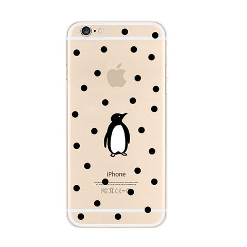 Penguin Spot Patten iPhone 6s 6 Soft Clear Case - Mavasoap