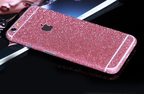 Petal Pink Sparkle Glitter Decal Wrap Skin Set iPhone 6s 6 / iPhone 6s 6 Plus - Mavasoap - 1