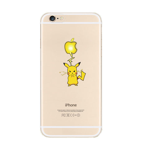 Pikachu iPhone 6s 6 Plus SE 5s 5 Soft Clear Case - Mavasoap