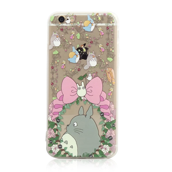 Totoro Pink Bow Chu Chibi iPhone 6s 6 Plus SE 5s 5 Soft Clear Case - Mavasoap - 1