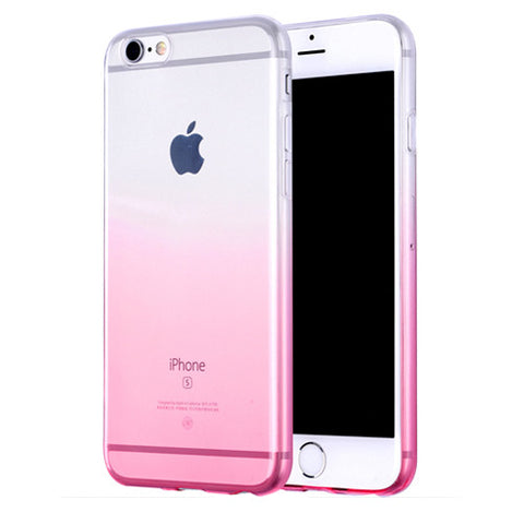 Pink Gradient Transparent Soft Clear Case Back Cover for iPhone 6s 6 Plus SE 5s 5 - Mavasoap - 1