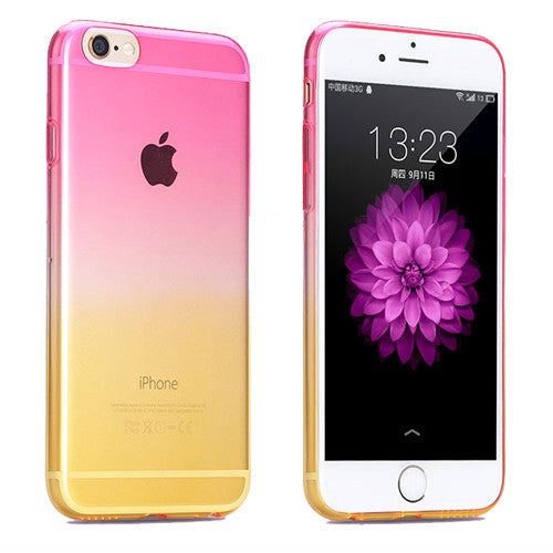 Pink to Yellow Gradient Soft Clear Case Back Cover for iPhone 6s 6 Plus SE 5s 5 - Mavasoap - 1