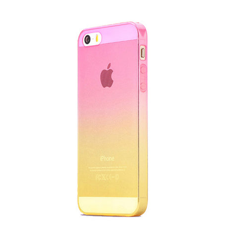 Pink to Yellow Gradient iPhone SE 5s 5 Soft Clear Case - Mavasoap