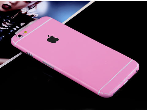 Pink Pure Decal Wrap Skin Set iPhone 6s 6 / iPhone 6s 6 Plus - Mavasoap - 1