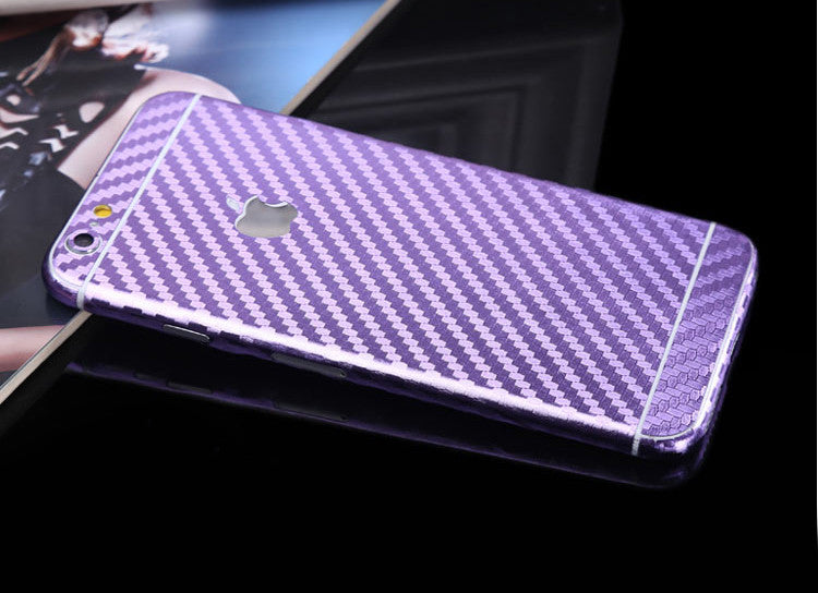 Purple Carbon Fiber Decal Wrap Skin Set iPhone 6s 6 / iPhone 6s 6 Plus - Mavasoap - 1