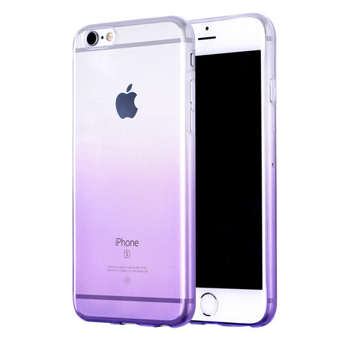 Purple Gradient Transparent Soft Clear Case Back Cover for iPhone 6s 6 Plus SE 5s 5 - Mavasoap - 1
