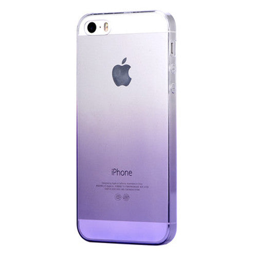 Purple Gradient Transparent Soft Clear Case Back Cover for iPhone 6s 6 Plus SE 5s 5 - Mavasoap - 2