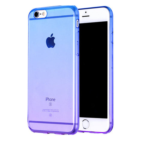 Purple Magic Gradient Transparent Soft Clear Case Back Cover for iPhone 6s 6 Plus SE 5s 5 - Mavasoap - 1