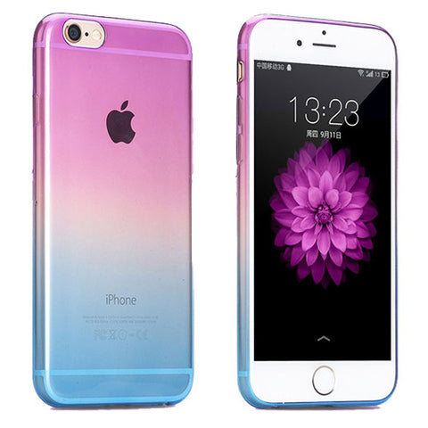 Purple to Blue Gradient Soft Clear Case Back Cover for iPhone 6s 6 Plus SE 5s 5 - Mavasoap - 1