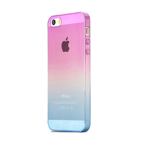 Purple to Blue Gradient iPhone 5s 5 Soft Clear Cases - Mavasoap