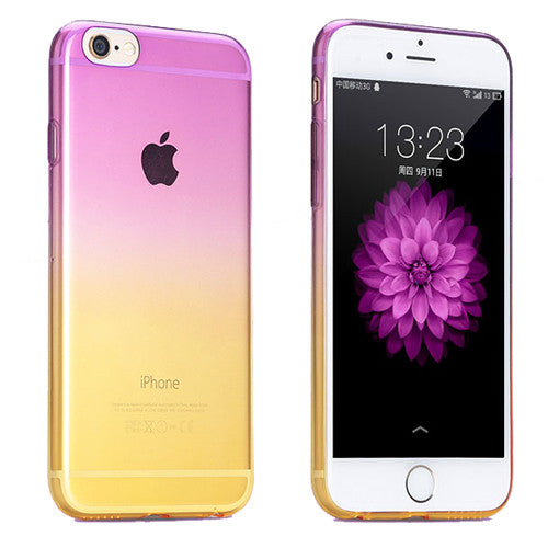 Purple to Yellow Gradient Soft Clear Case Back Cover for iPhone 6s 6 Plus SE 5s 5 - Mavasoap - 1