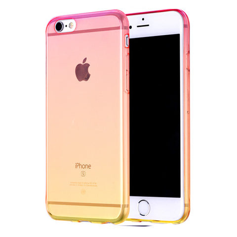 Rainbow Gradient Transparent Soft Clear Case Back Cover for iPhone 6s 6 Plus SE 5s 5 - Mavasoap - 1