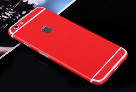 Red Pure Decal Wrap Skin Set iPhone 6s 6 / iPhone 6s 6 Plus - Mavasoap - 1