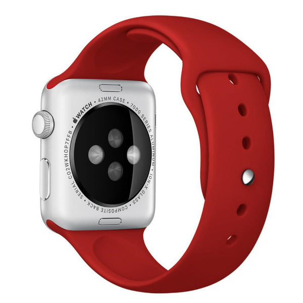 Apple Watch Red Sport Band Strap - Mavasoap - 2