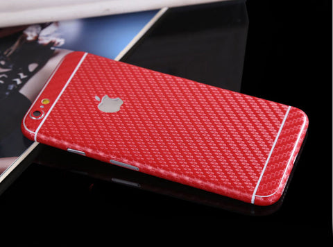 Red Carbon Fiber Decal Wrap Skin Set iPhone 6s 6 / iPhone 6s 6 Plus - Mavasoap - 1