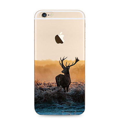 Reindeer Deer Nature iPhone 6s 6 Plus SE 5s 5 Soft Clear Case - Mavasoap