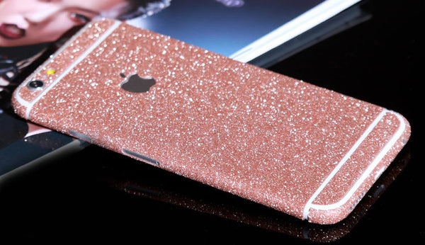 Rose Pink Sparkle Glitter Decal Wrap Skin Set iPhone 6s 6 / iPhone 6s 6 Plus - Mavasoap - 1