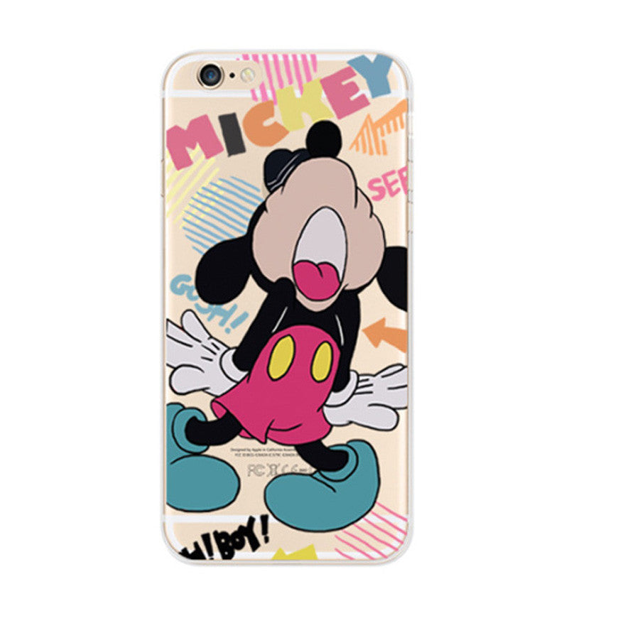 Disney Mickey mouse Shout iPhone 6s 6 Soft Clear Case - Mavasoap