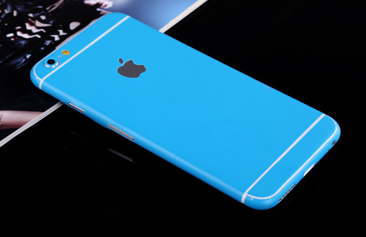 Sky Blue Pure Decal Wrap Skin Set iPhone 6s 6 / iPhone 6s 6 Plus - Mavasoap - 1