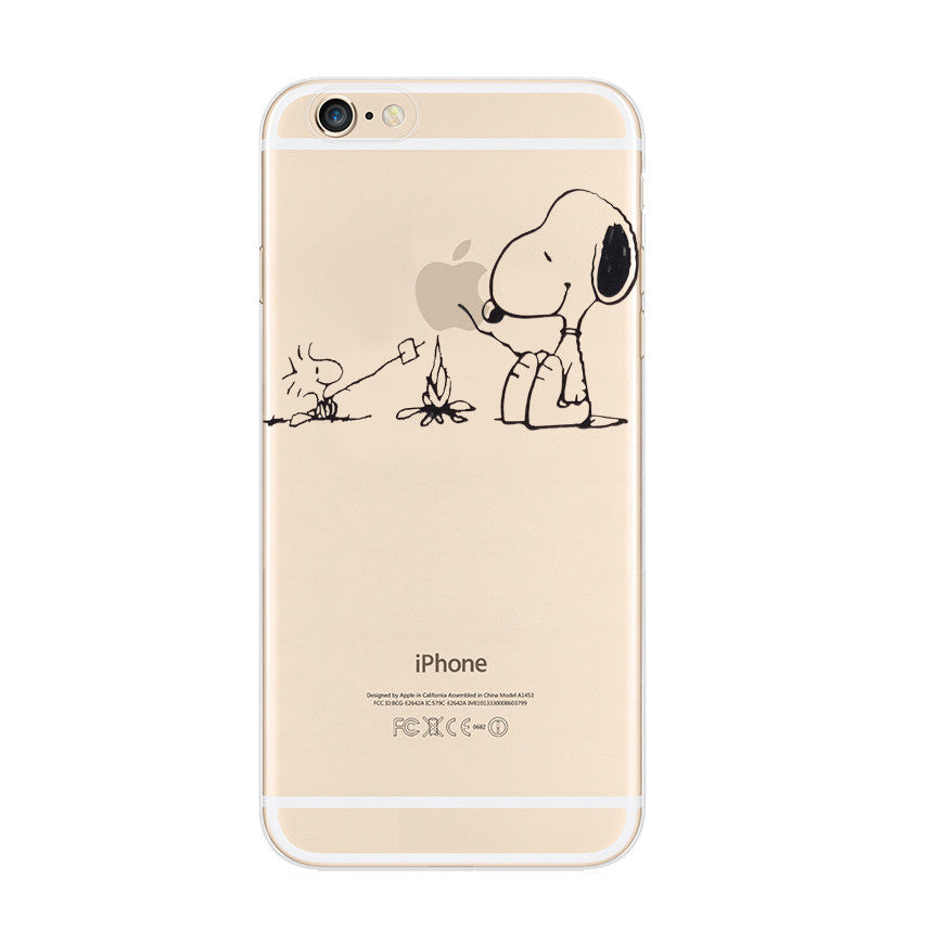 the latest 24cdb 551e9 Snoopy Barbecue Woodstock iPhone 6s 6 Plus Soft Clear Case