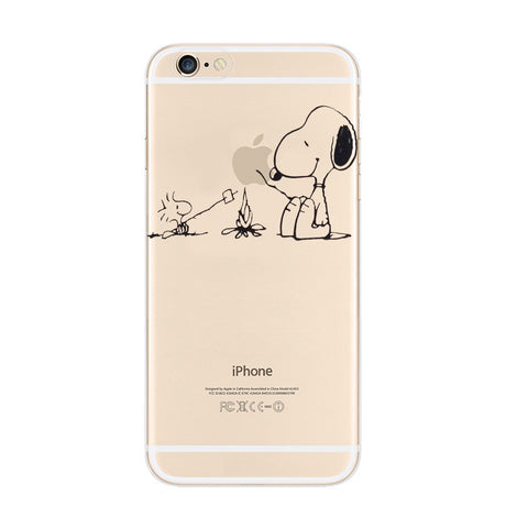 Snoopy Barbecue Woodstock iPhone 6s 6 Plus Soft Clear Case - Mavasoap