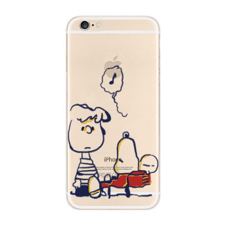 Snoopy Schroeder Music iPhone 6s 6 Soft Clear Case - Mavasoap