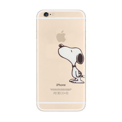 Snoopy Touch Apple iPhone 6s 6 Plus SE 5s 5 Soft Clear Case - Mavasoap