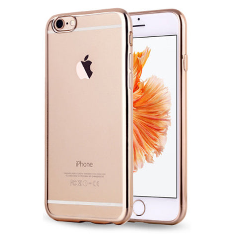 Soft Clear Case Back Cover for iPhone 6s 6 Plus (Gold/Plating) - Mavasoap - 1