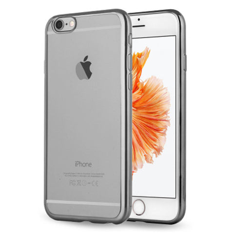 Soft Clear Case Back Cover for iPhone 6s 6 Plus (Grey/Plating) - Mavasoap - 1