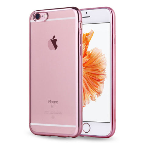 Soft Clear Case Back Cover for iPhone 6s 6 Plus (Rose Gold/Plating) - Mavasoap - 1