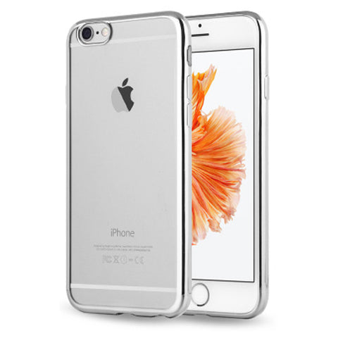 Soft Clear Case Back Cover for iPhone 6s 6 Plus (Silver/Plating) - Mavasoap - 1