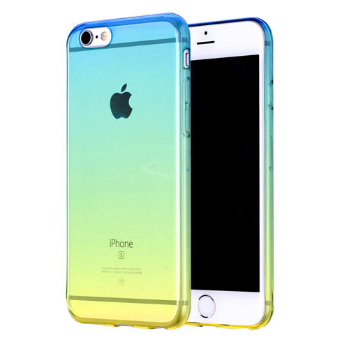 Summer Gradient Transparent Soft Clear Case Back Cover for iPhone 6s 6 Plus SE 5s 5 - Mavasoap - 1
