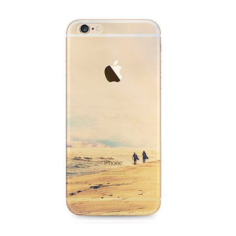 Sunset Desert Landscape Nature iPhone 6s 6 Plus Soft Clear Case - Mavasoap