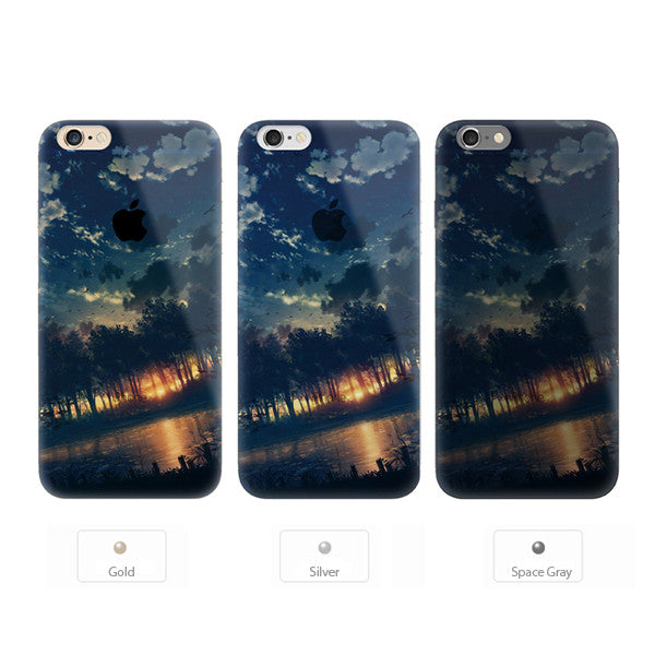 Sunset Forest Scenery Nature iPhone 6s 6 Plus Soft Clear Case - Mavasoap - 2