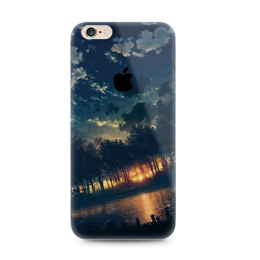 Sunset Forest Scenery Nature iPhone 6s 6 Plus Soft Clear Case - Mavasoap