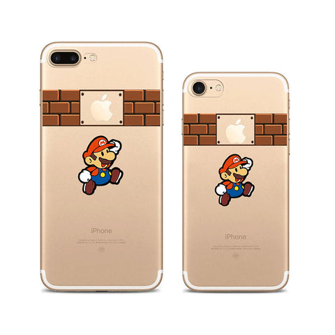 Super Mario iPhone 7 Plus Soft Clear Cases