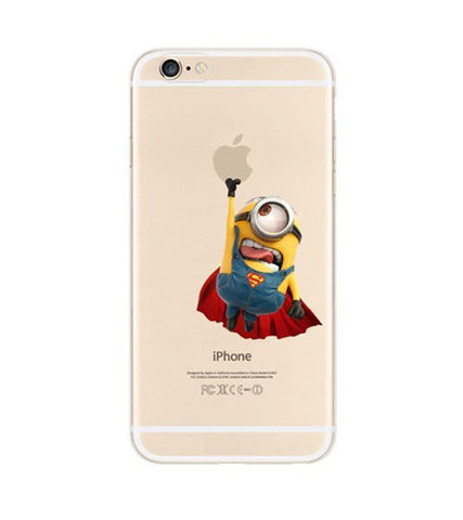 Minions x Superman iPhone 6s 6 Plus SE 5s 5 Soft Clear Case - Mavasoap