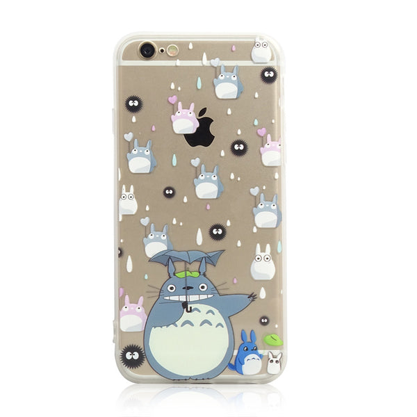 Totoro Chu Chibi Soot Raining iPhone 6s 6 Plus Soft Clear Case - Mavasoap - 1