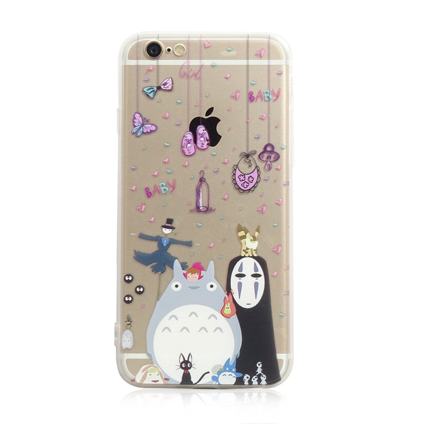 Totoro Chu Chibi No Face iPhone 6s 6 Plus Soft Clear Case - Mavasoap - 1