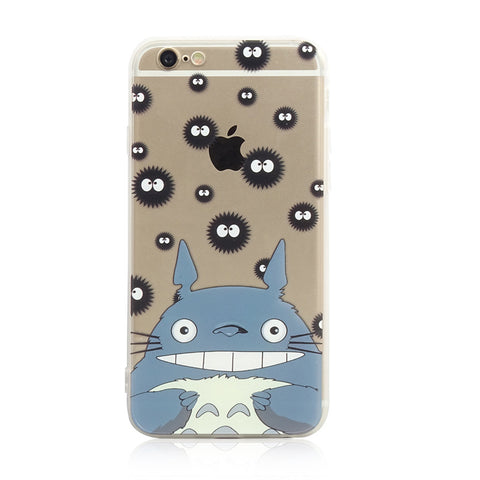 Totoro Soot Pattern iPhone 6s 6 Plus SE 5s 5 Soft Clear Case - Mavasoap - 1