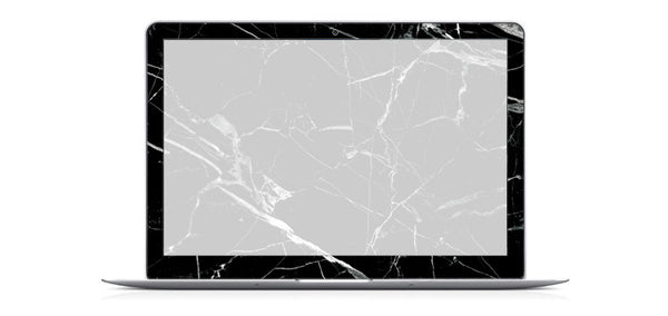 Black Marble Decal Skin Set for the Apple MacBook Air Pro - Mavasoap - 3