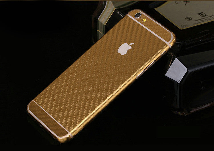 Gold Carbon Fiber Decal Wrap Skin Set iPhone 6s 6 / iPhone 6s 6 Plus - Mavasoap