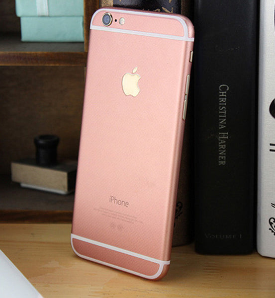 Rose Gold Pink Decal Wrap Skin Set Apple iPhone 6s 6 / iPhone 6s 6 Plus - Mavasoap - 4
