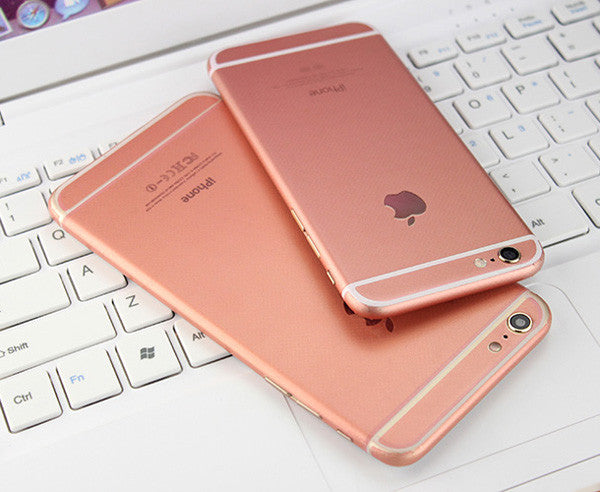rose gold iphone gold pink decal wrap skin set iphone 6 6s plus mavasoap 12899