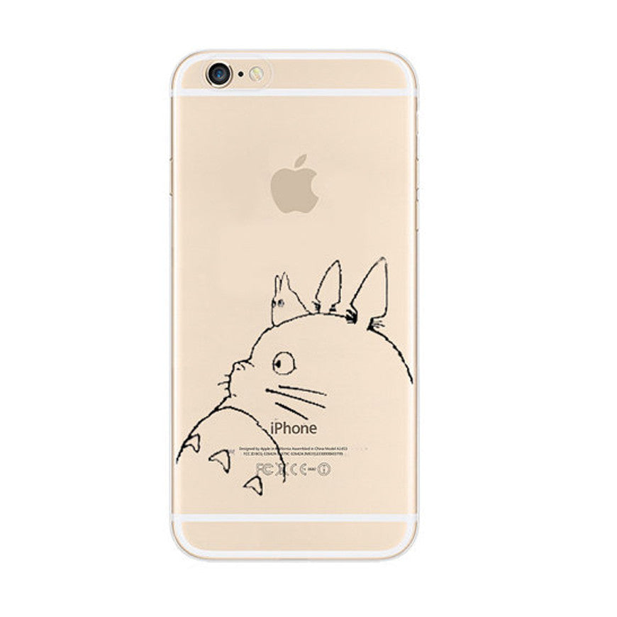 Totoro iPhone 6s 6 Plus SE 5s 5 Soft Clear Case - Mavasoap