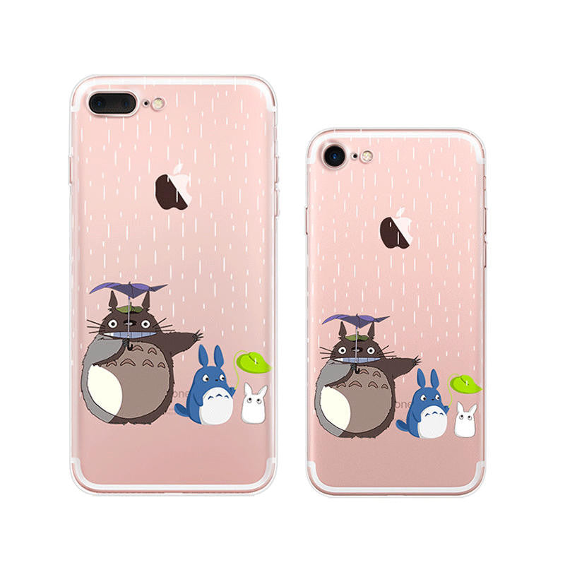 Totoro Raining iPhone 7 Soft Clear Cases